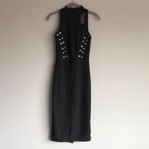 Dress with lace up detail